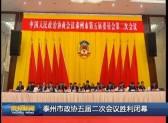 泰州市政协五届二次会议胜利闭幕