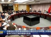 市推動長江經濟帶發展領導小組召開2019年第一次會議  堅決打好長江保護修復攻堅戰