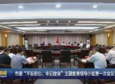"""市委""""不忘初心、牢记使命""""主题教育领导小组第一次会议召开"""