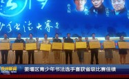 姜堰区青少年书法选手喜获省级比赛佳绩