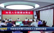 市政协召开第九次知名人士圆桌协商会