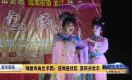 海陵戏曲艺术团:送戏进社区 居民齐欢乐