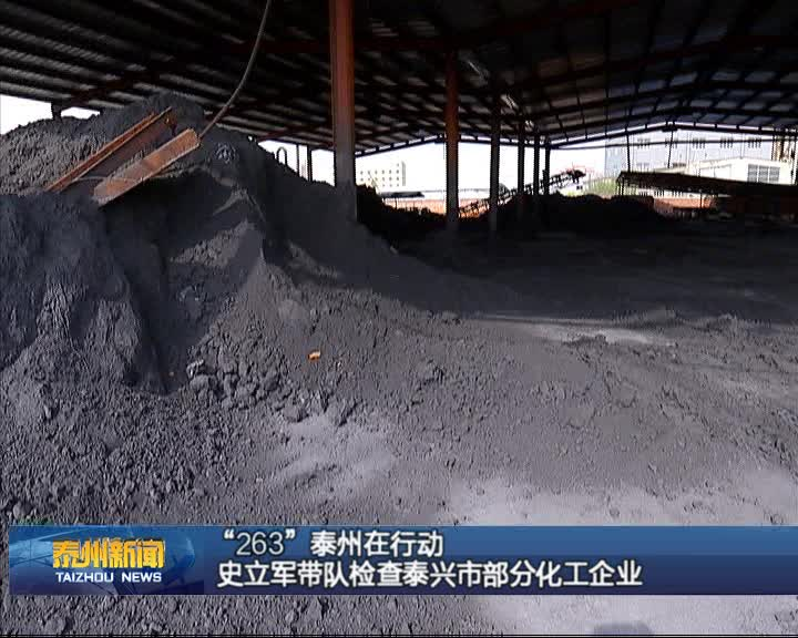 史立军带队检查泰兴市部分化工企业