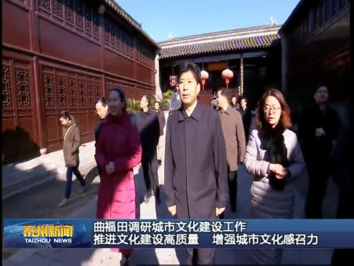 曲福田调研城市文化建设工作