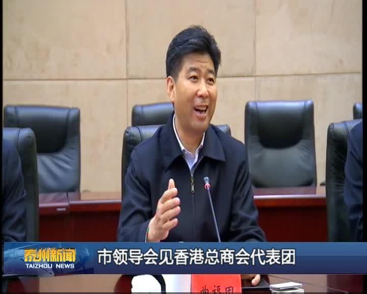 市领导会见香港总商会代表团