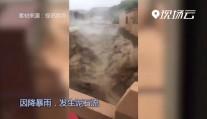 现场云丨青海循隆高速一隧道口突发泥石流 交通中断