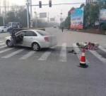 姜堰一路口發生車禍,電動車駕駛人不幸……