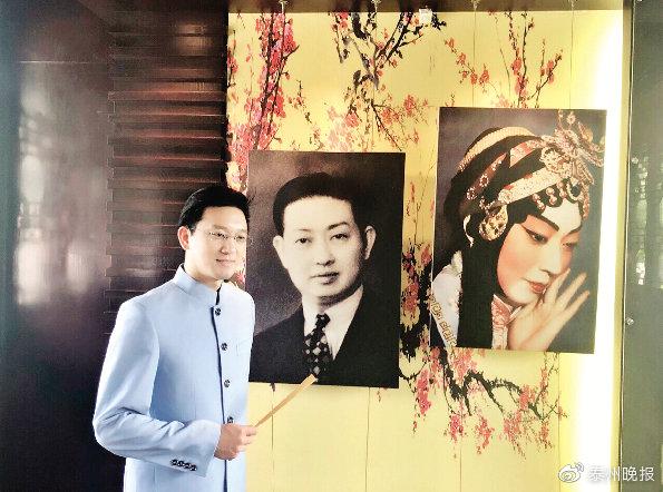 傅希如在泰州梅纪馆参观。