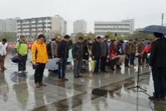 市广电台组织清明祭扫活动