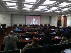 市广电台组织党员观看廉政教育电教片