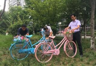 """靖江這個社區居民用創意改造廢棄物品,共建共享""""網格風景"""""""