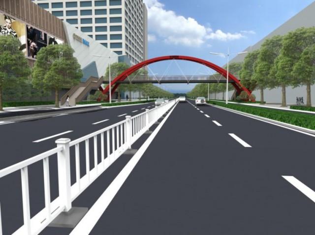 泰州万达过街天桥有方案了!3套设计,你觉得哪个好?