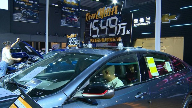 """""""十一""""泰州国际车展开幕,新能源汽车受欢迎……"""