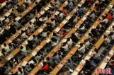 【图文】济南2000考研族上巨无霸大课 跳热舞缓解压力
